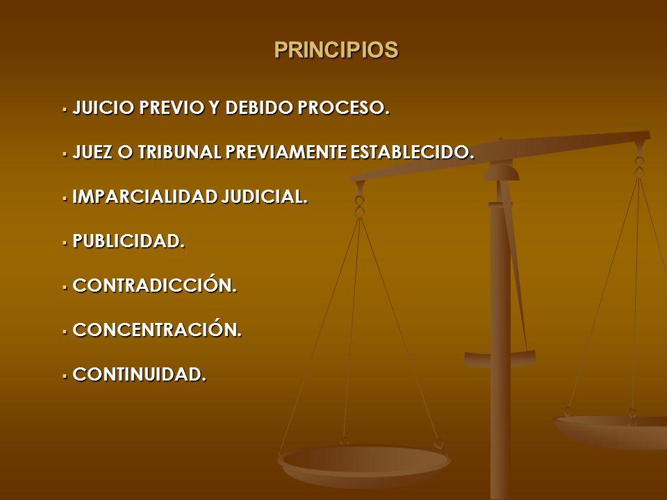 PRINCIPIOS JUICIO PREVIO Y DEBIDO PROCESO.