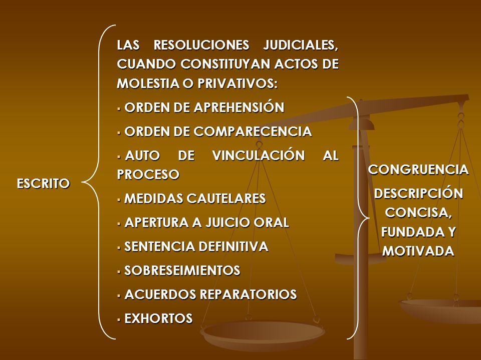DESCRIPCIÓN CONCISA, FUNDADA Y MOTIVADA