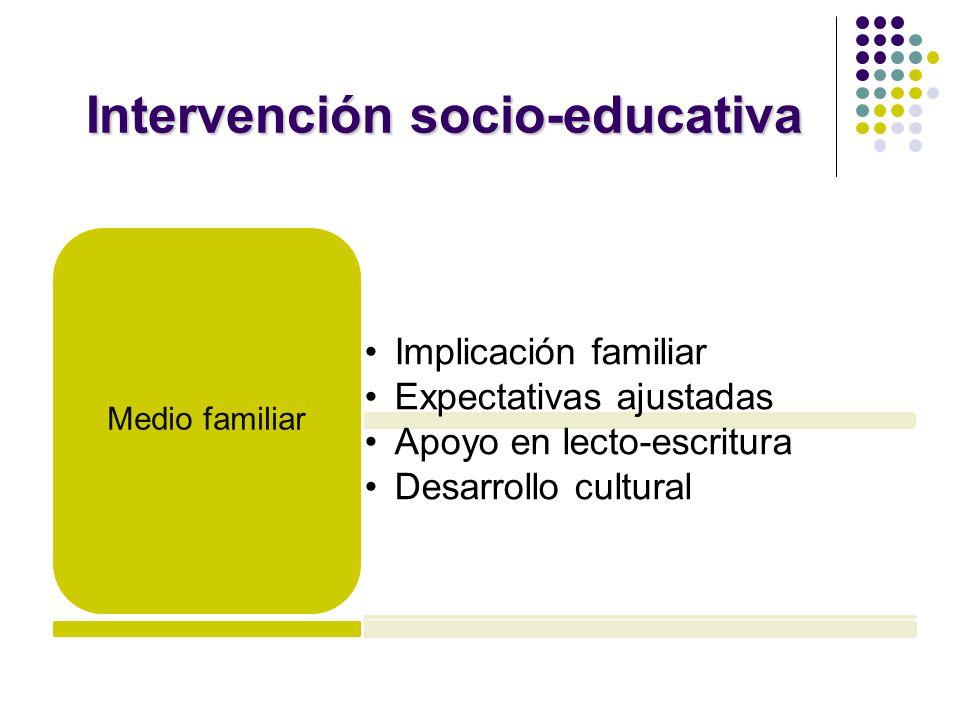 Intervención socio-educativa