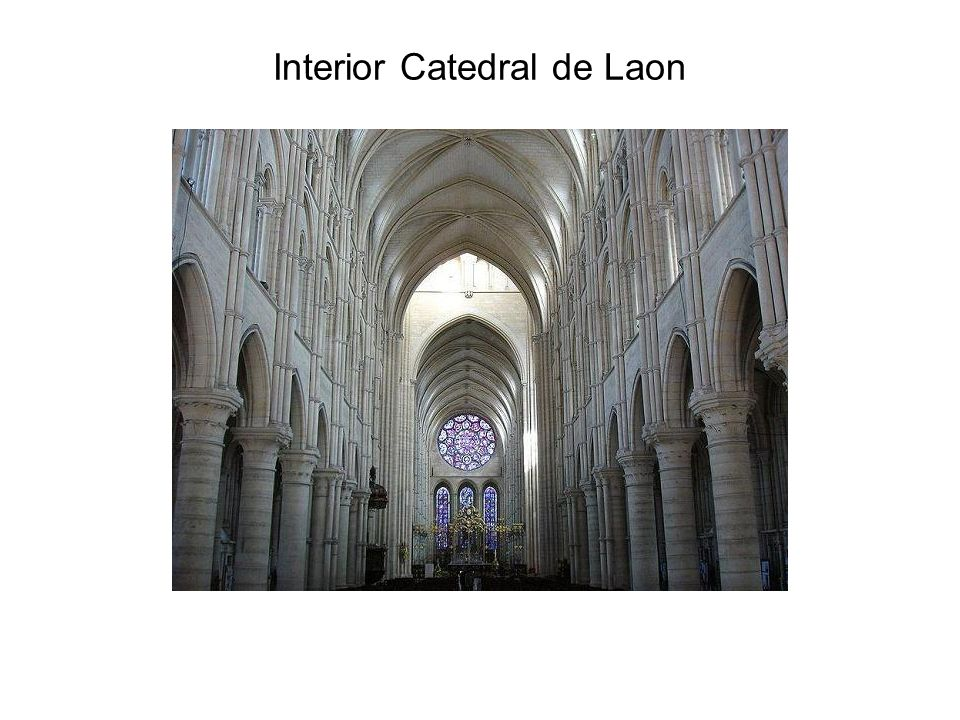 Interior Catedral de Laon