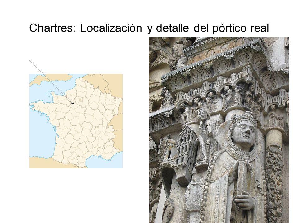 Chartres: Localización y detalle del pórtico real