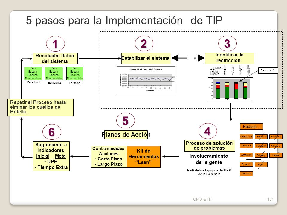1 2 3 5 6 4 5 pasos para la Implementación de TIP Planes de Acción