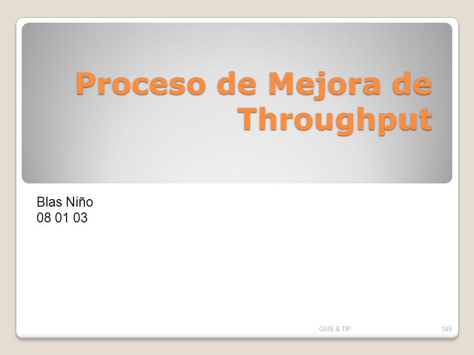 Proceso de Mejora de Throughput