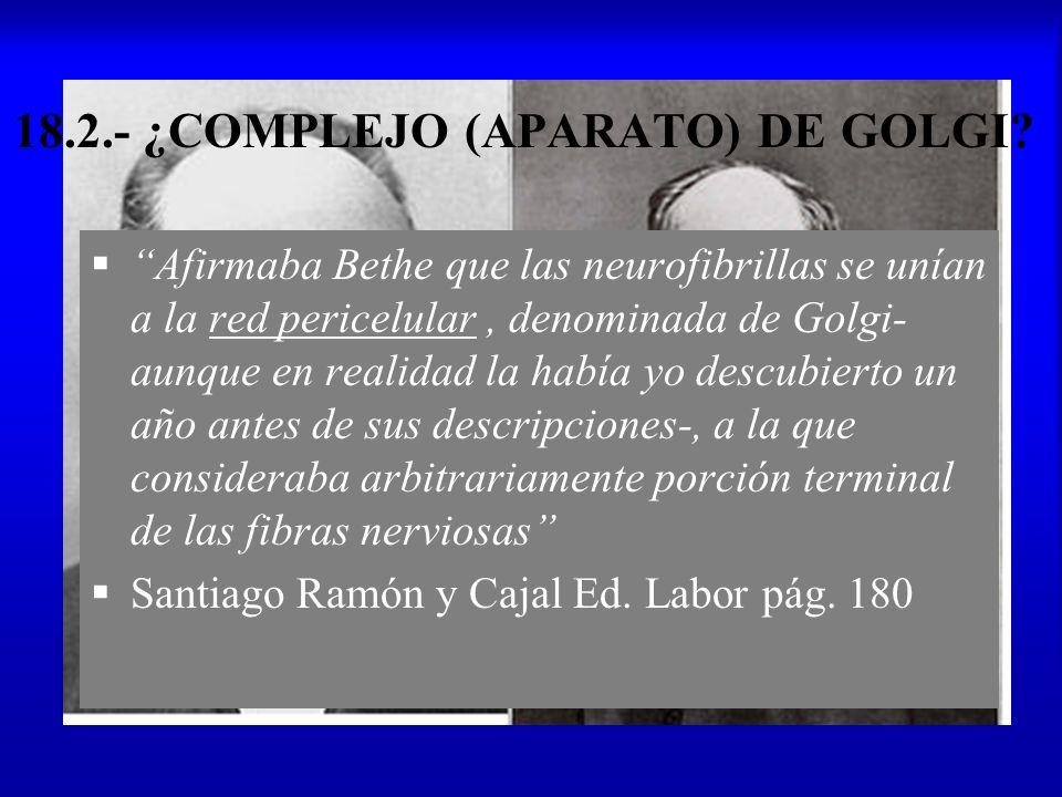 18.2.- ¿COMPLEJO (APARATO) DE GOLGI