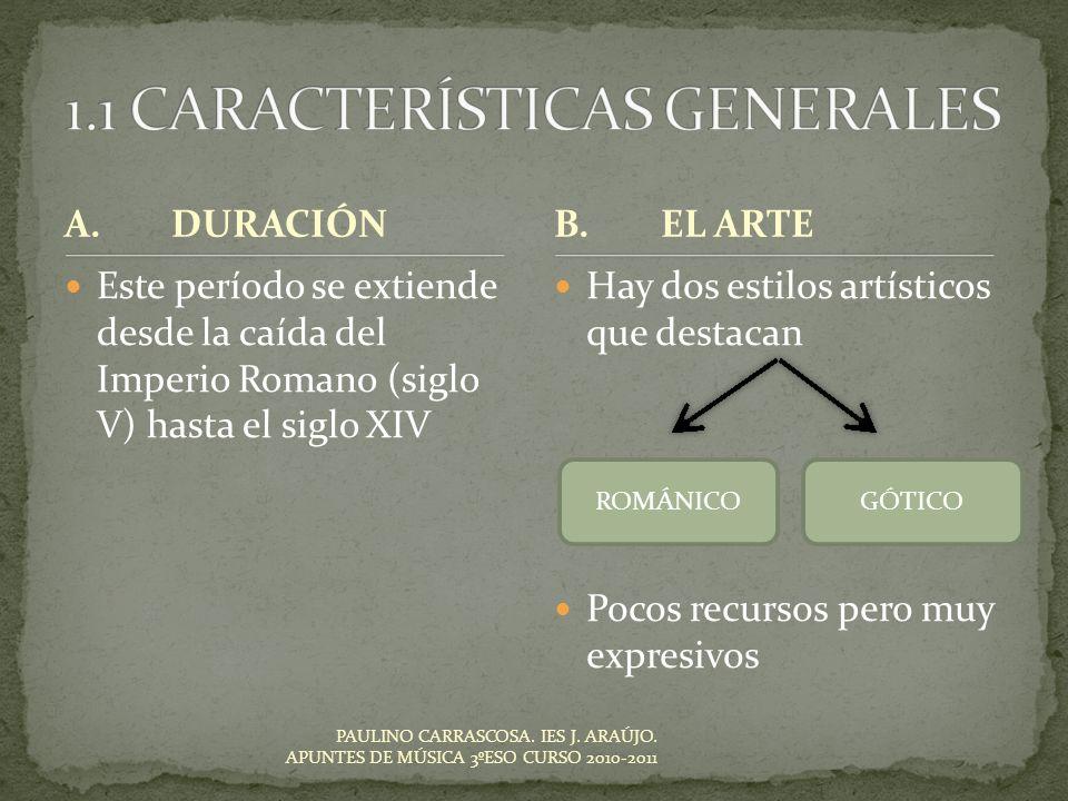 1.1 CARACTERÍSTICAS GENERALES