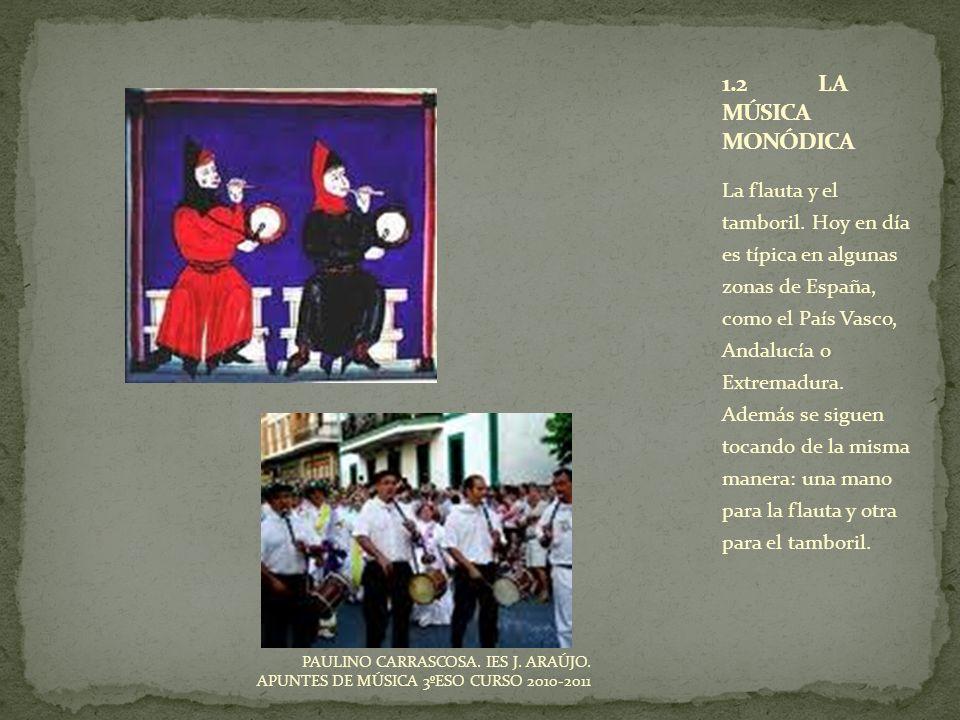 1.2 LA MÚSICA MONÓDICA