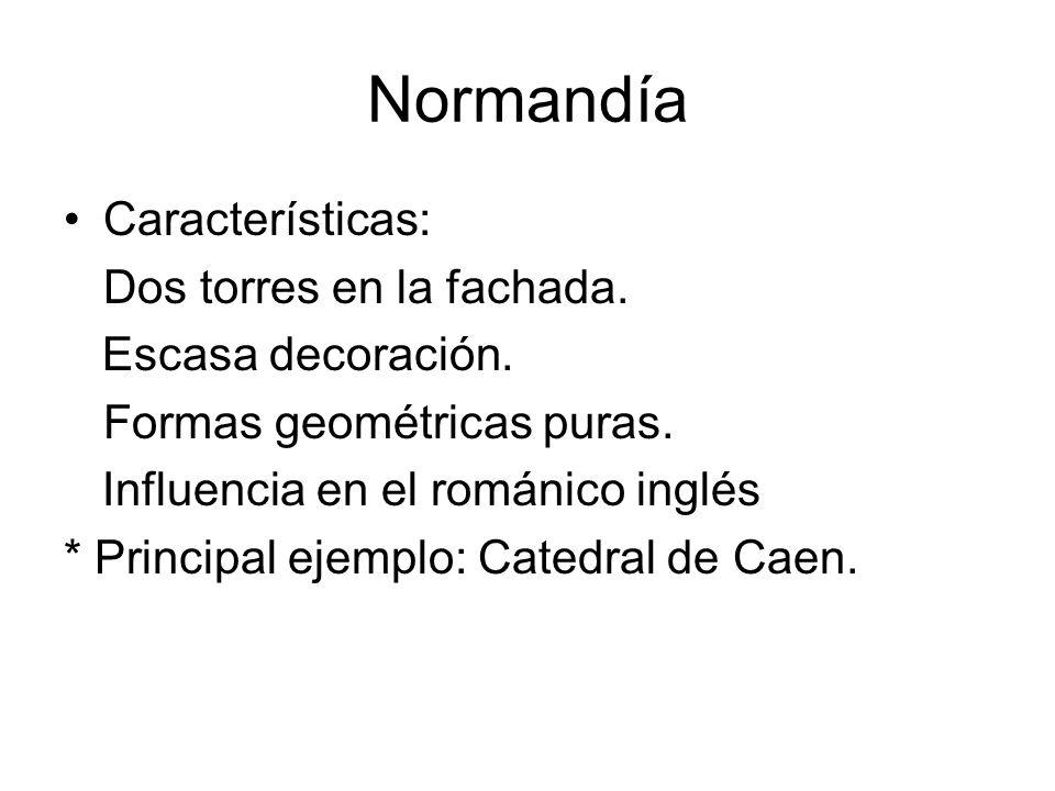 Normandía Características: Dos torres en la fachada.