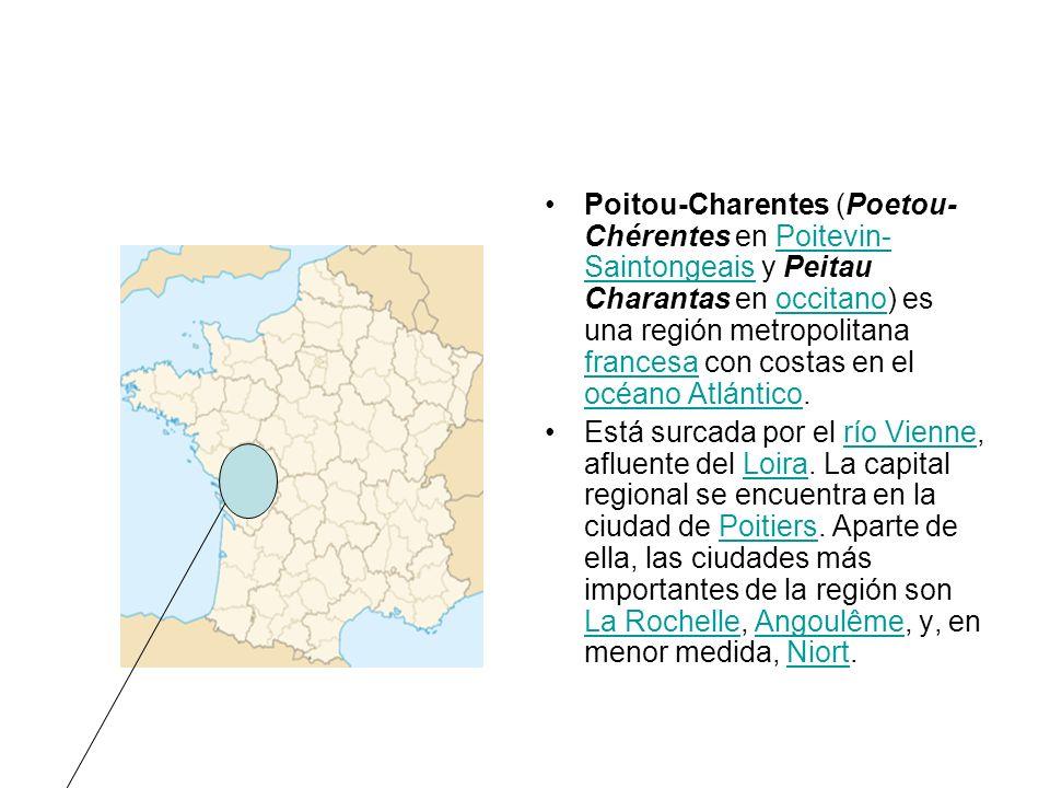 Poitou-Charentes (Poetou-Chérentes en Poitevin-Saintongeais y Peitau Charantas en occitano) es una región metropolitana francesa con costas en el océano Atlántico.