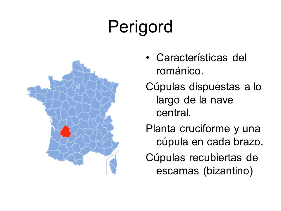 Perigord Características del románico.