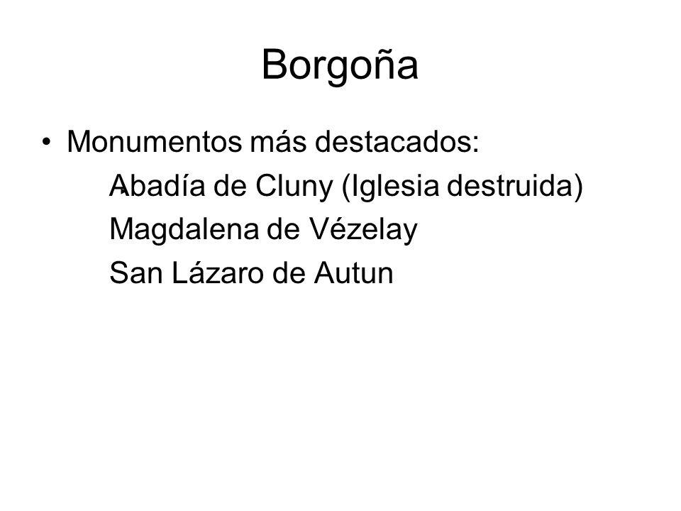 Borgoña Monumentos más destacados: Abadía de Cluny (Iglesia destruida)