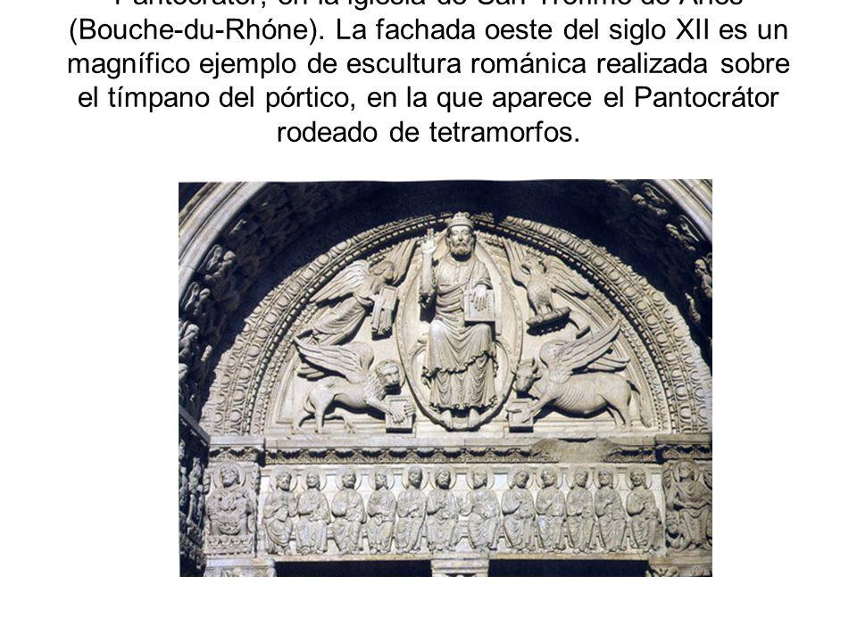Pantocrátor, en la iglesia de San Trófimo de Arles (Bouche-du-Rhóne)