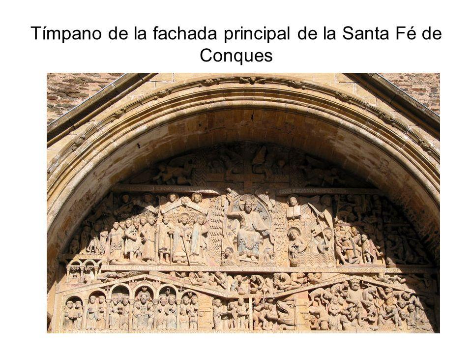 Tímpano de la fachada principal de la Santa Fé de Conques