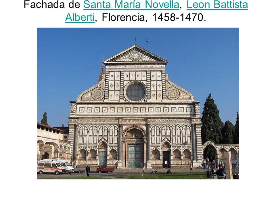 Fachada de Santa María Novella, Leon Battista Alberti, Florencia, 1458-1470.
