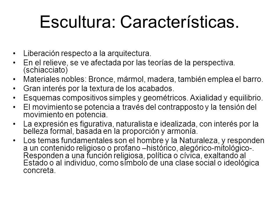 Escultura: Características.