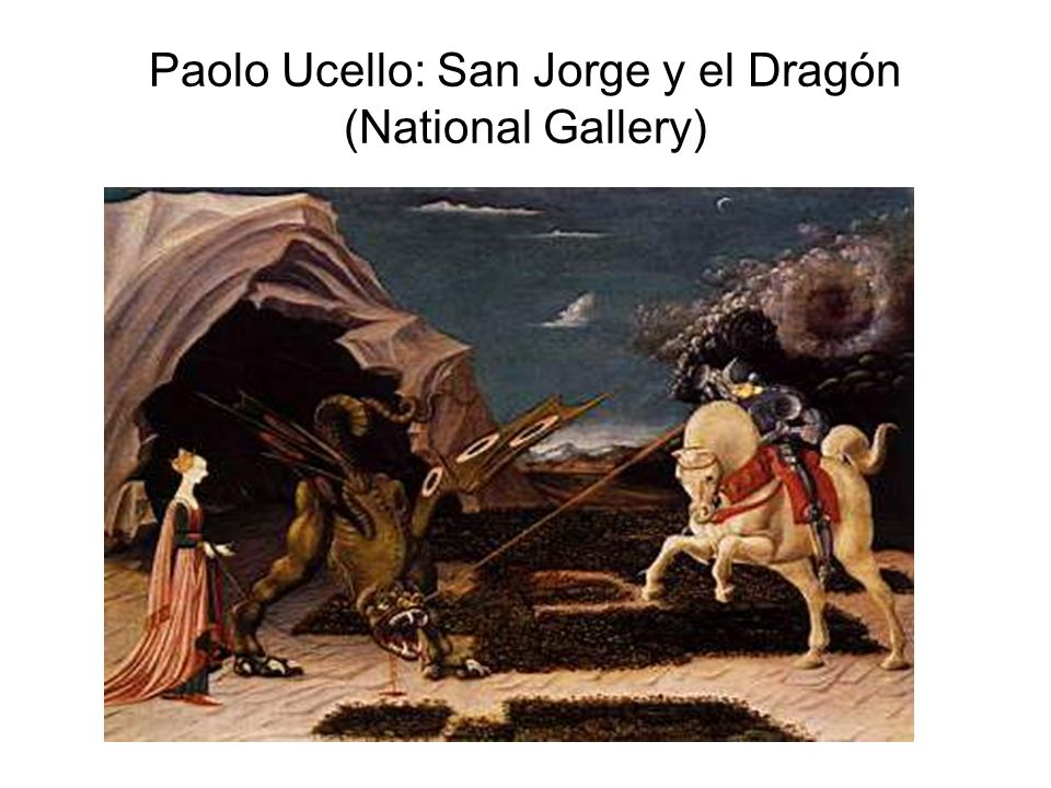 Paolo Ucello: San Jorge y el Dragón (National Gallery)