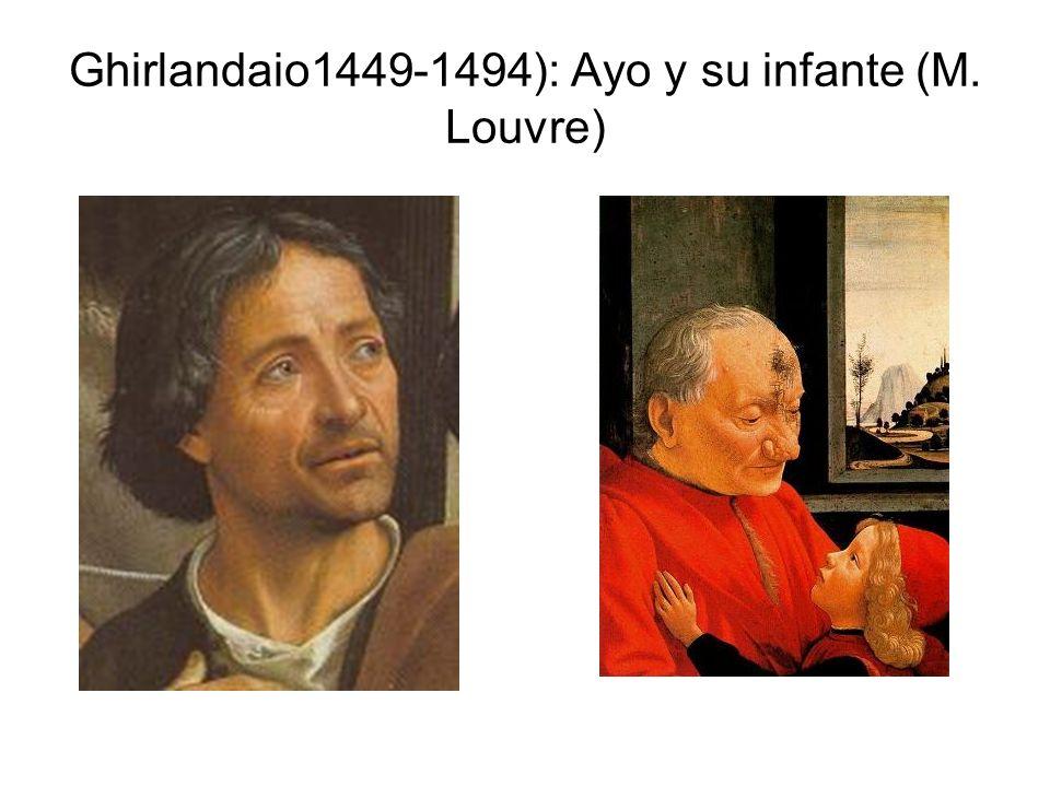 Ghirlandaio1449-1494): Ayo y su infante (M. Louvre)