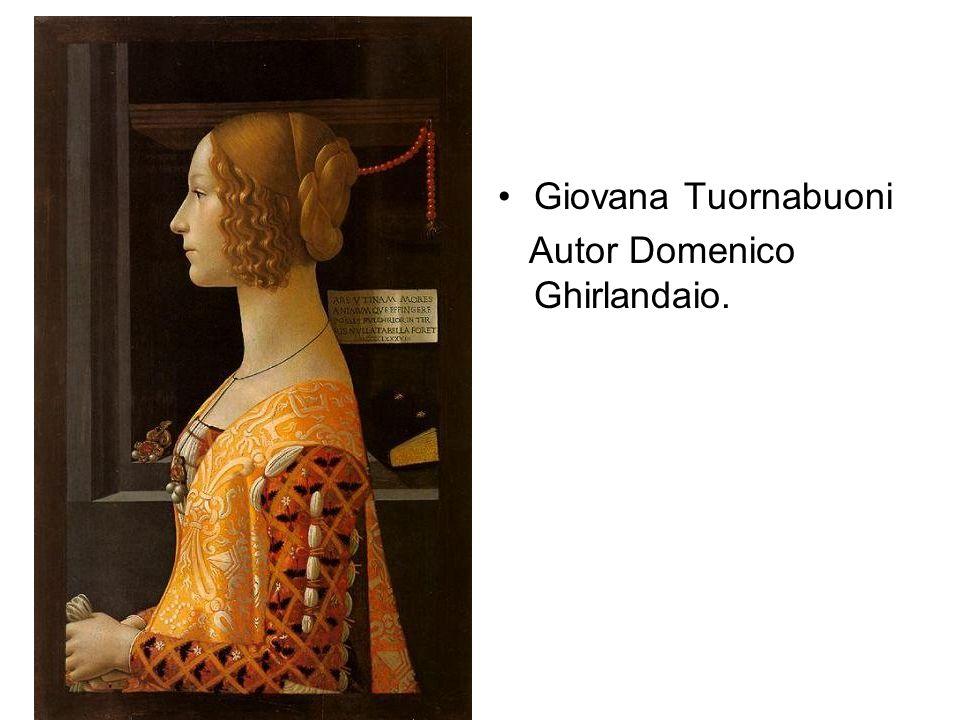Giovana Tuornabuoni Autor Domenico Ghirlandaio.