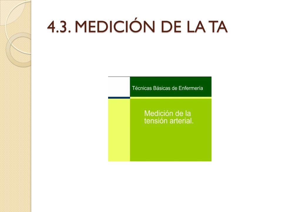 4.3. MEDICIÓN DE LA TA