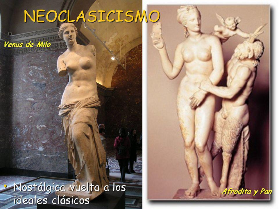 NEOCLASICISMO Nostálgica vuelta a los ideales clásicos Venus de Milo