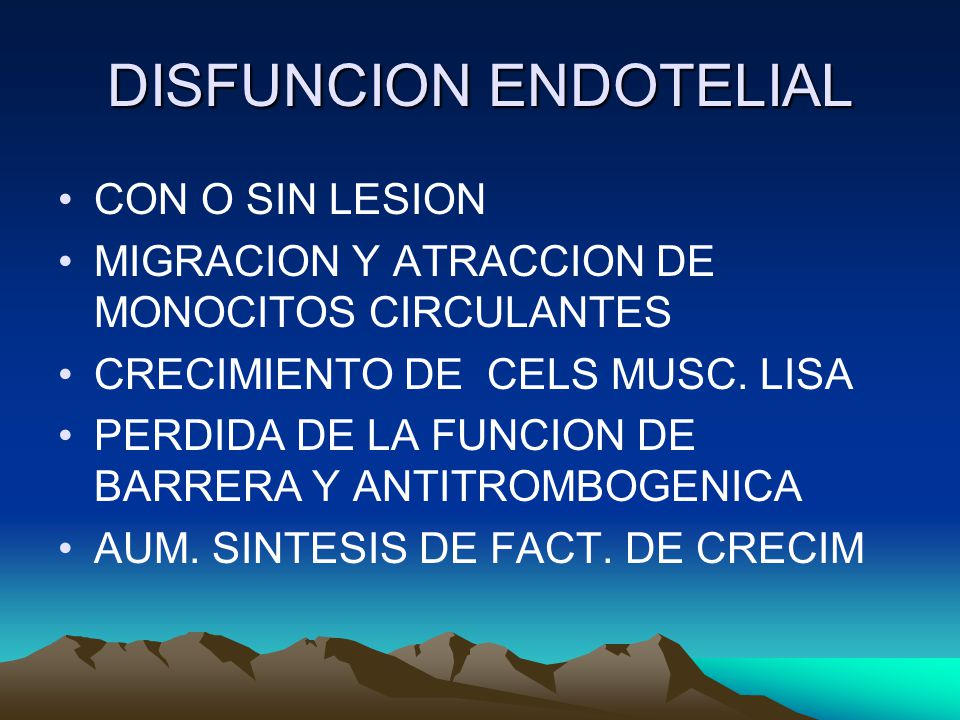 DISFUNCION ENDOTELIAL