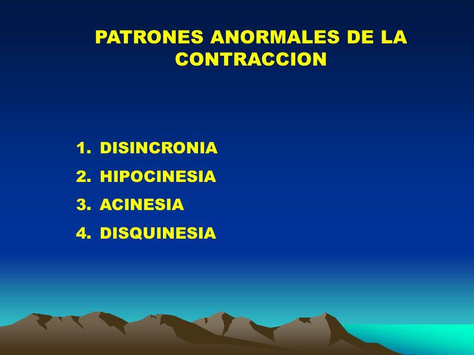 PATRONES ANORMALES DE LA CONTRACCION
