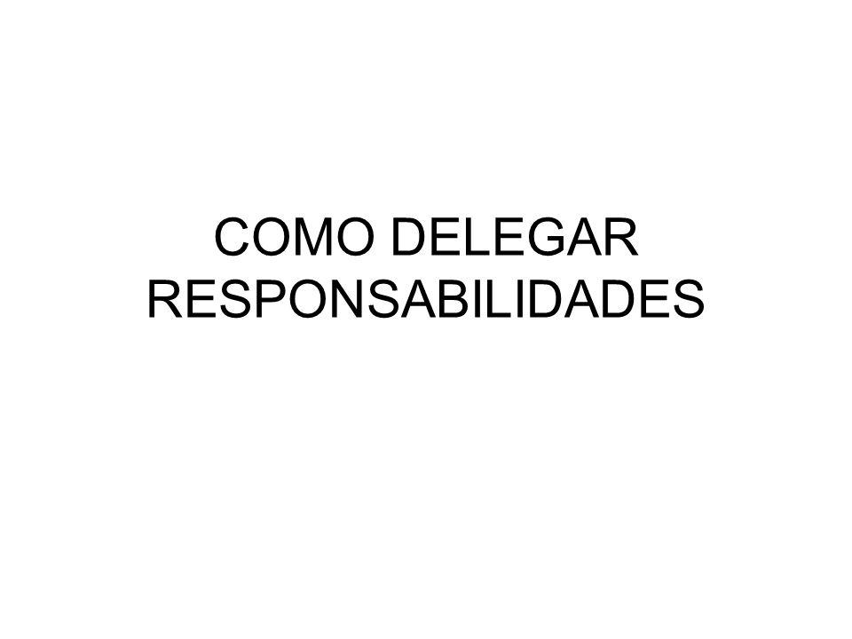 COMO DELEGAR RESPONSABILIDADES