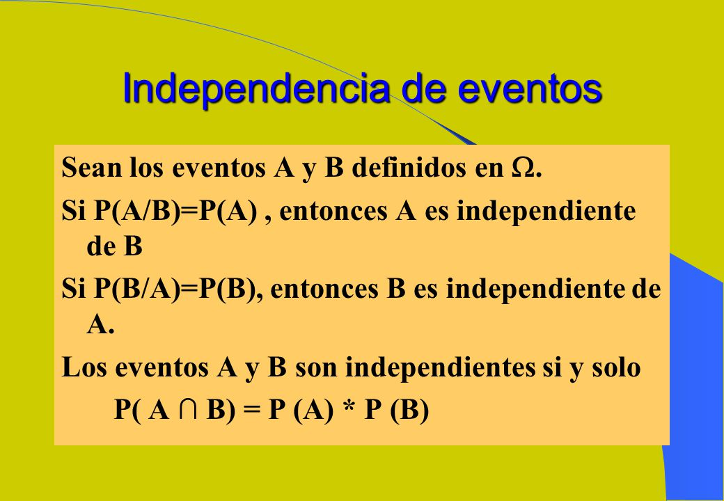 Independencia de eventos
