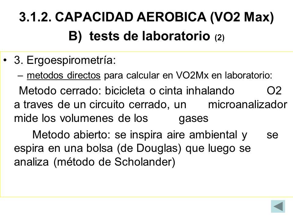 3.1.2. CAPACIDAD AEROBICA (VO2 Max) B) tests de laboratorio (2)