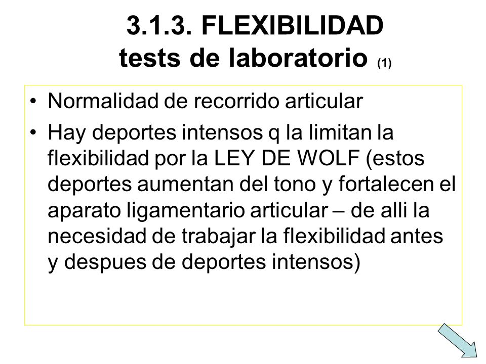 3.1.3. FLEXIBILIDAD tests de laboratorio (1)