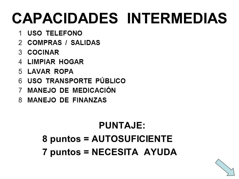 CAPACIDADES INTERMEDIAS