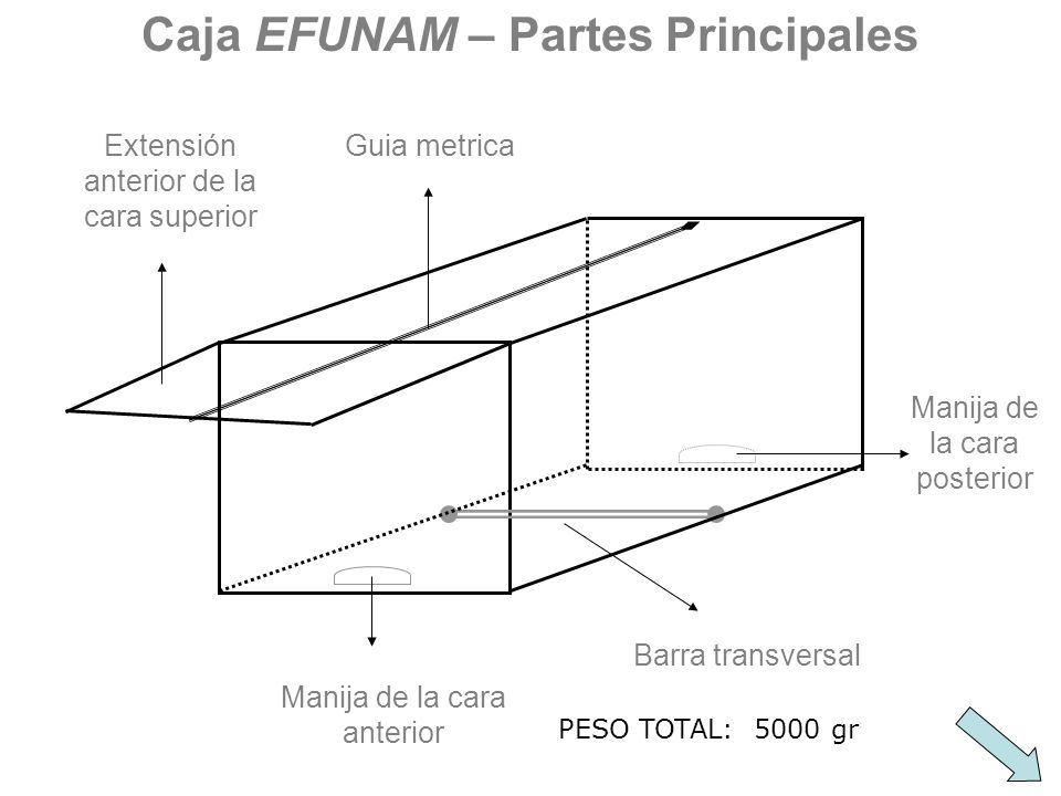 Caja EFUNAM – Partes Principales