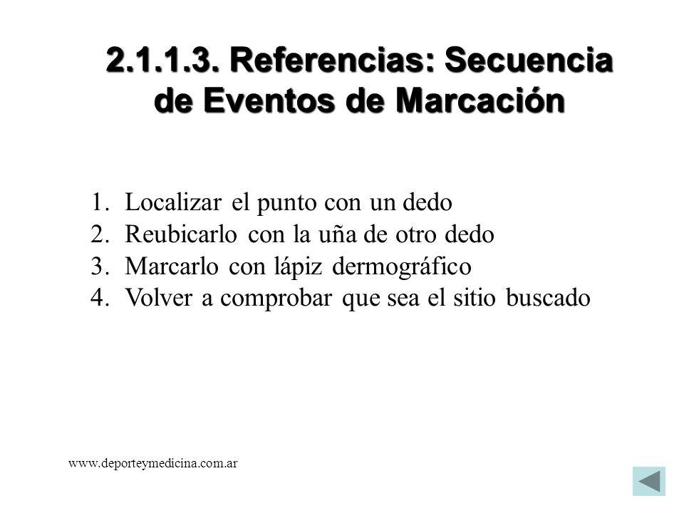 2.1.1.3. Referencias: Secuencia de Eventos de Marcación