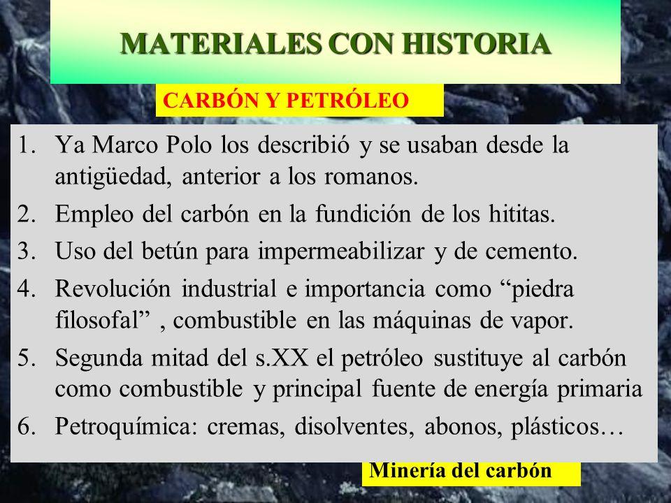 MATERIALES CON HISTORIA