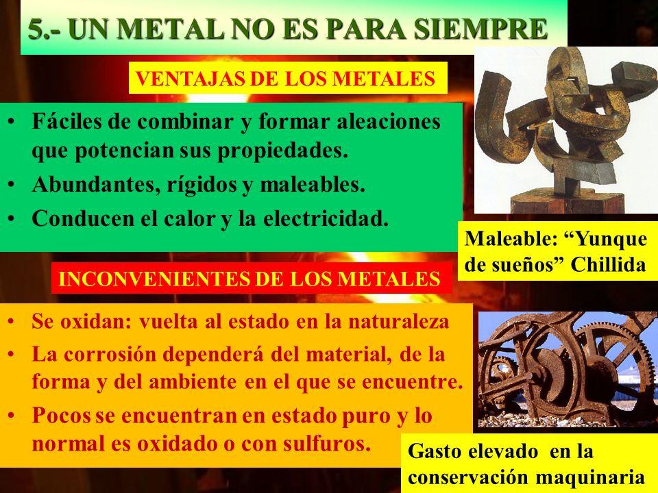5.- UN METAL NO ES PARA SIEMPRE