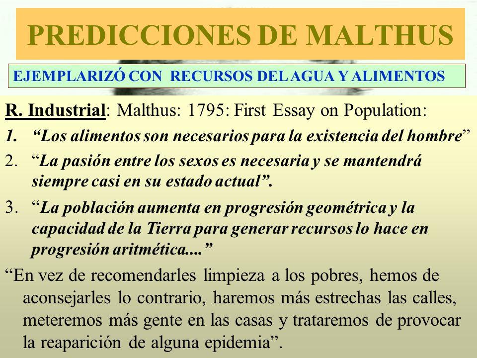 PREDICCIONES DE MALTHUS