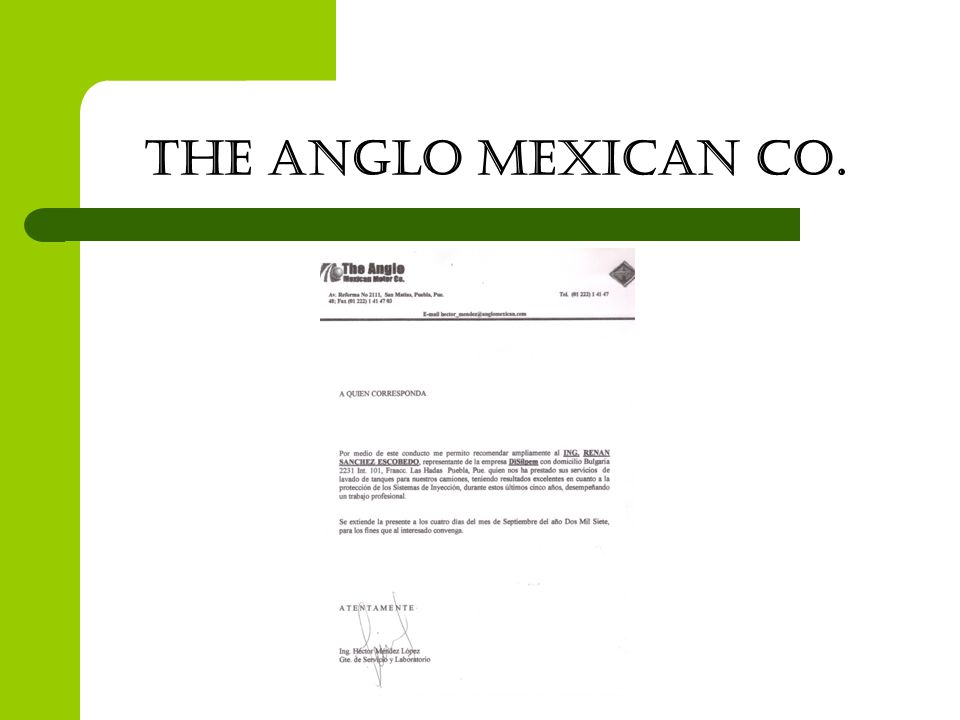 THE ANGLO MEXICAN CO.