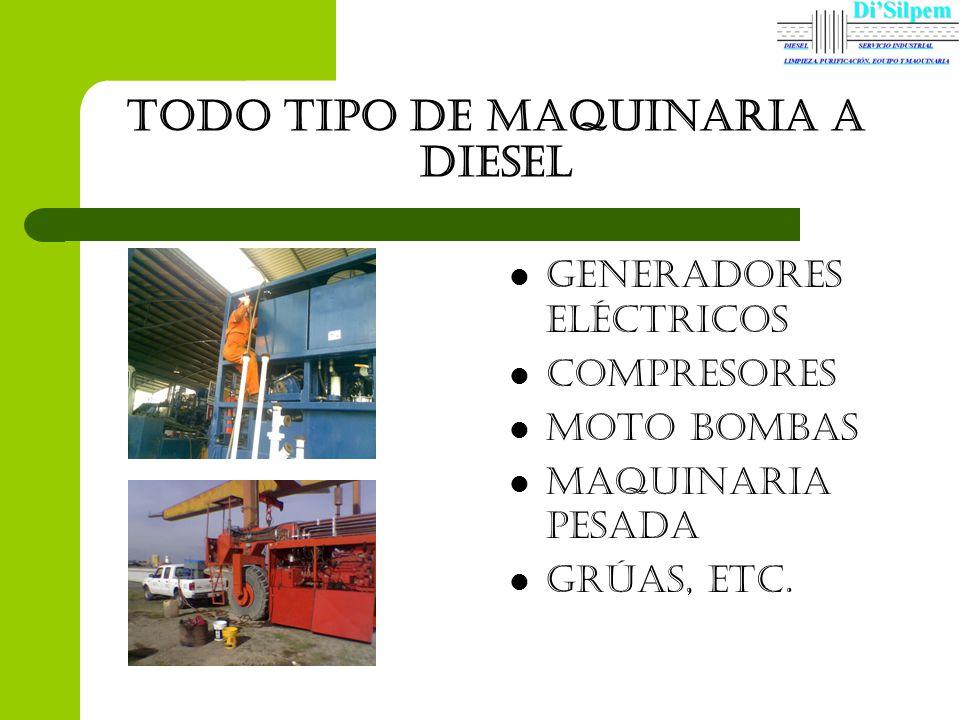 Todo tipo de maquinaria a diesel