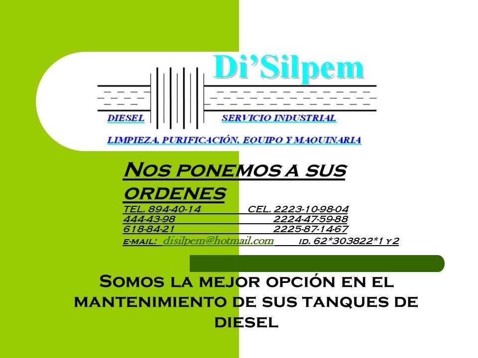 Somos la mejor opción en el mantenimiento de sus tanques de diesel