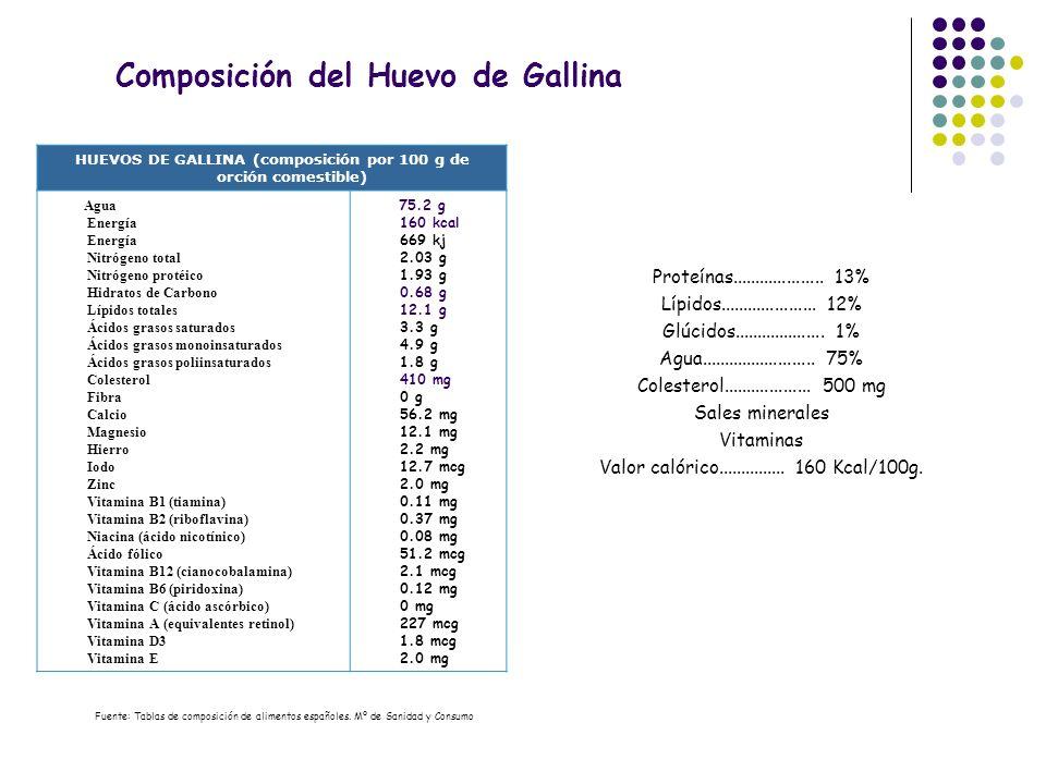 Composición del Huevo de Gallina