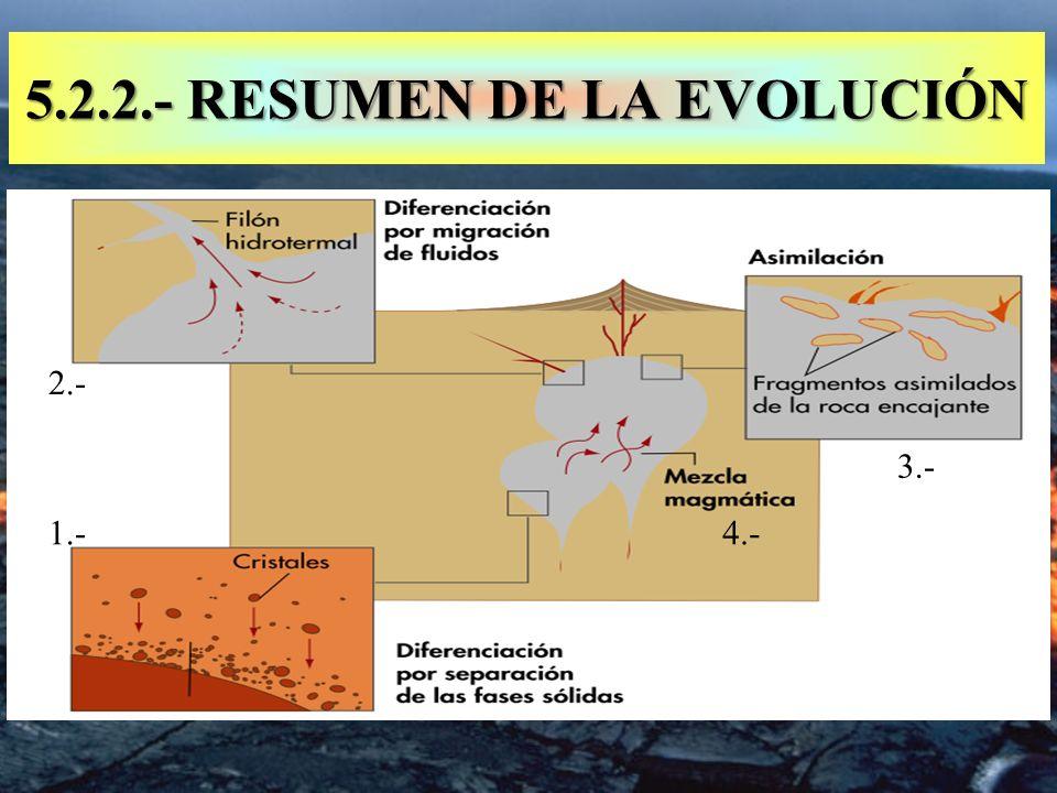 5.2.2.- RESUMEN DE LA EVOLUCIÓN