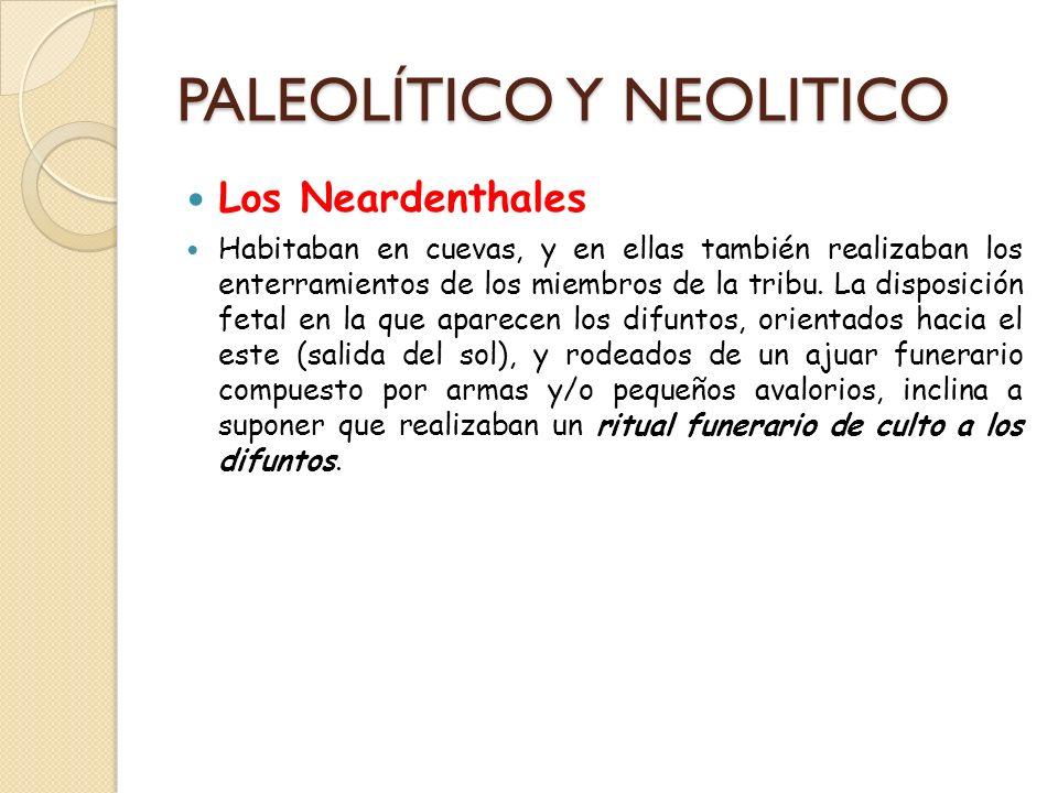 PALEOLÍTICO Y NEOLITICO