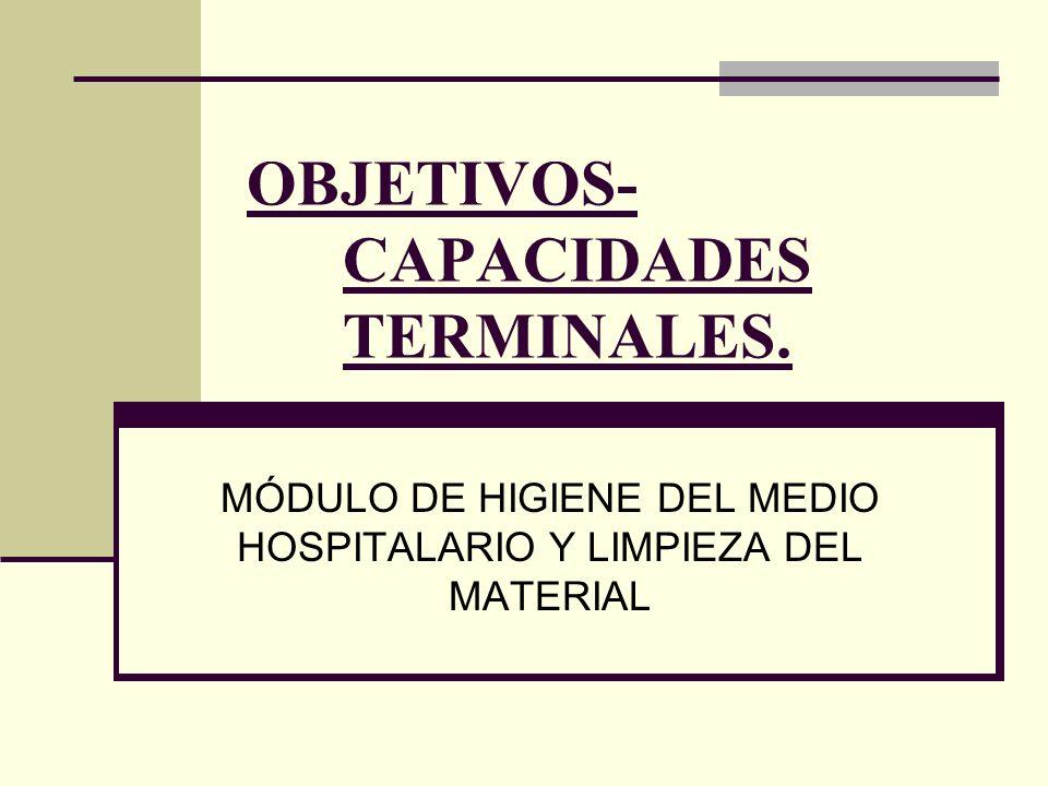 OBJETIVOS- CAPACIDADES TERMINALES.