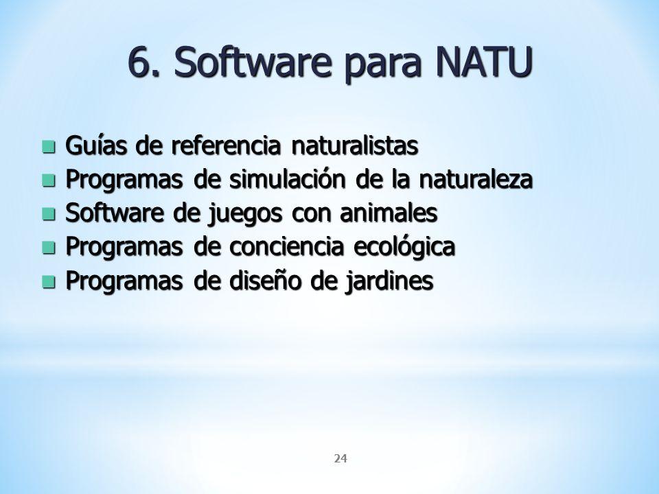 6. Software para NATU Guías de referencia naturalistas
