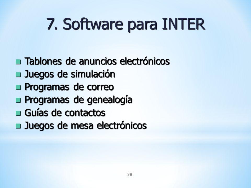 7. Software para INTER Tablones de anuncios electrónicos