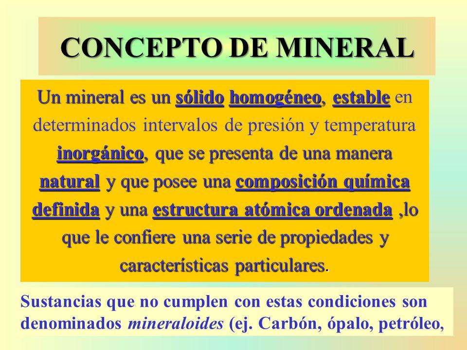 CONCEPTO DE MINERAL