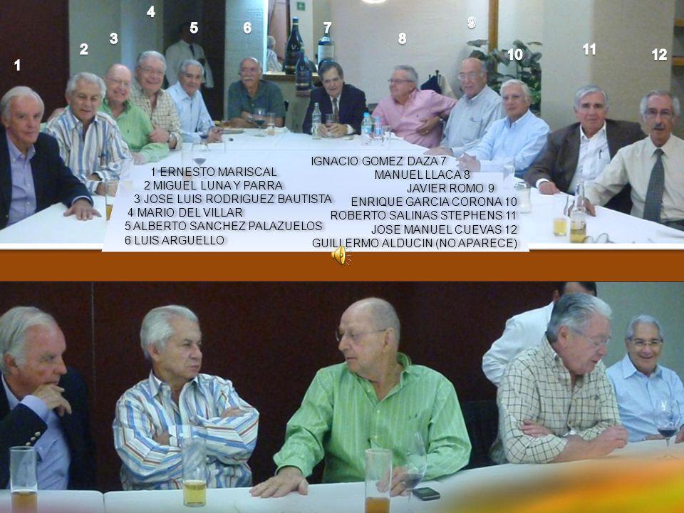 LUIS XXX Ignacio Gomez Daza 4 9 5 6 7 3 8 2 11 10 12 1