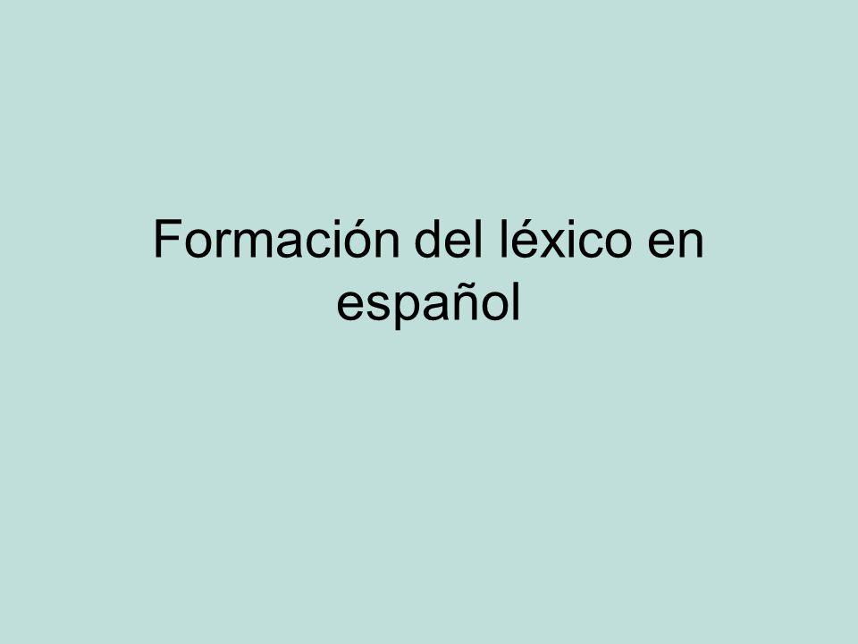 Formación del léxico en español