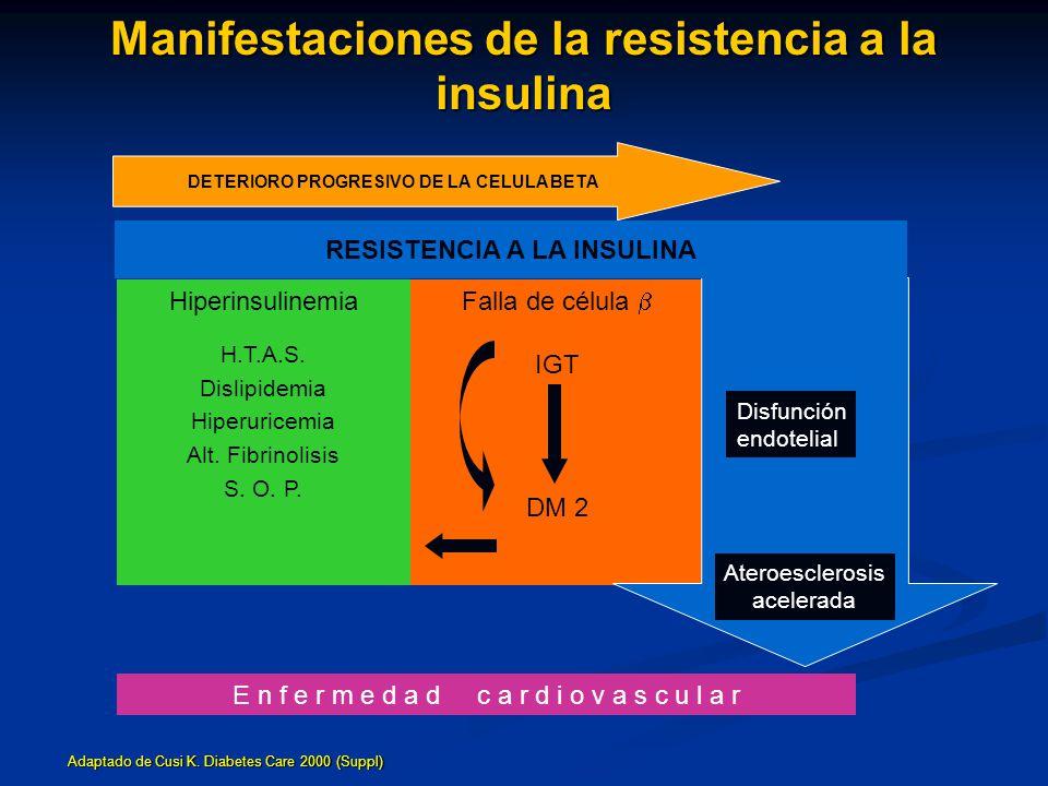 Manifestaciones de la resistencia a la insulina