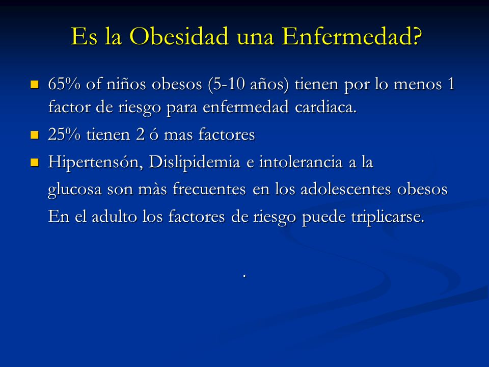 Es la Obesidad una Enfermedad