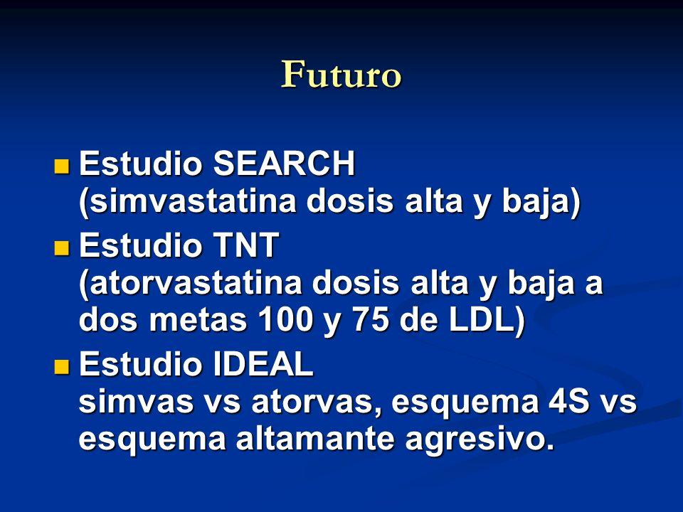 Futuro Estudio SEARCH (simvastatina dosis alta y baja)